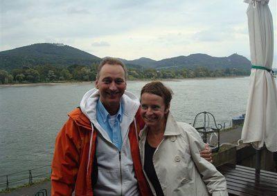 Mit Margret Geelen,  Agentur Kontrapunkt Köln, am Rhein