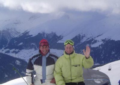 Davos, auf der Piste mit Achim Thom